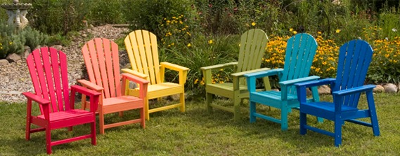 funky outdoor furniture. year round outdoor furniture made in indiana from recycled milk jugs funky